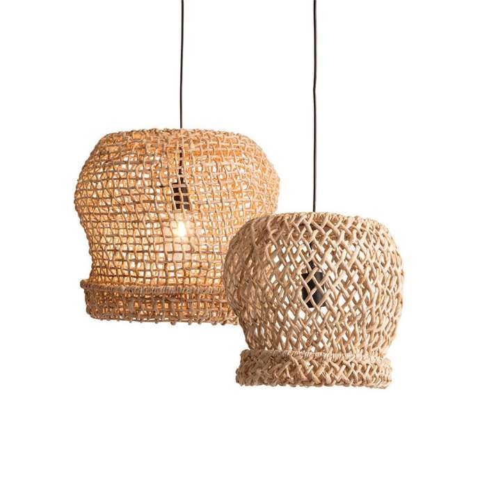 Lot de 2 suspensions PALOMA BASKET / 2 dimensions / Naturel