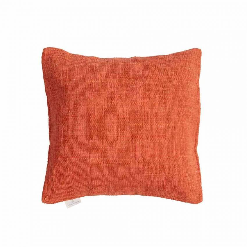 Coussin tissé main / Coton / Orange