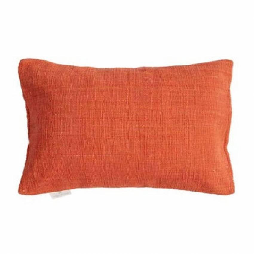 Coussin rectangle tissé main / Coton / Orange