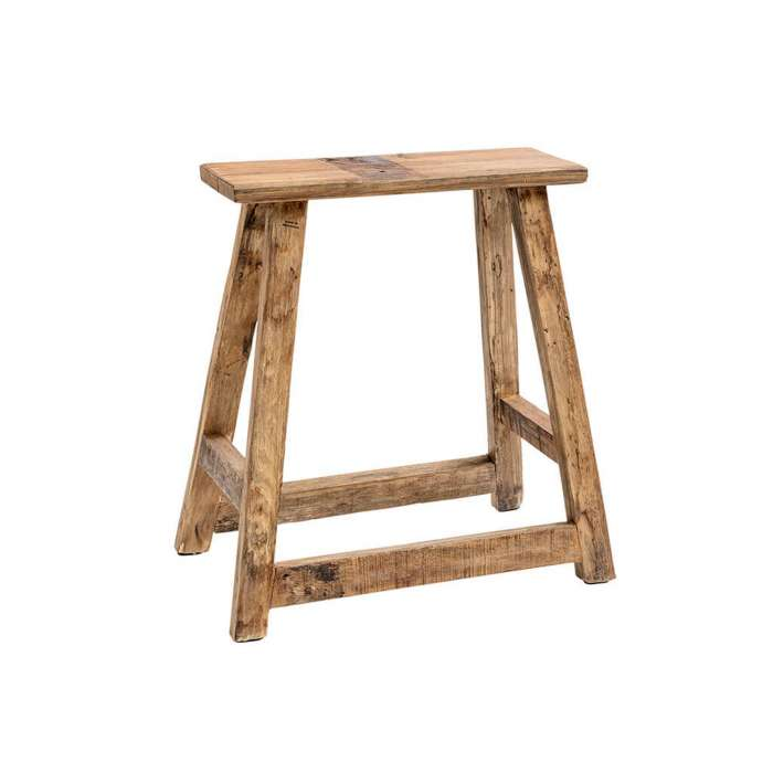 Tabouret CHINESE RECTANGLE CHAIR / H. 55 cm / Bois Recyclé