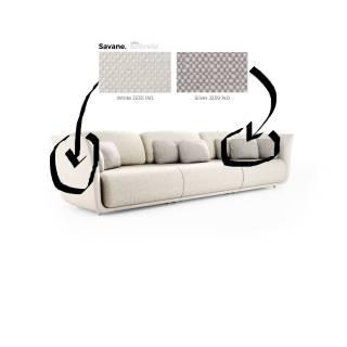 Canapé 3 places SUAVE / Beige / Coussin Gris