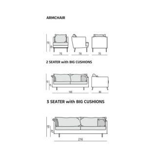 Sits / Fauteuil JULIA / Tissu Velours - 5 coloris