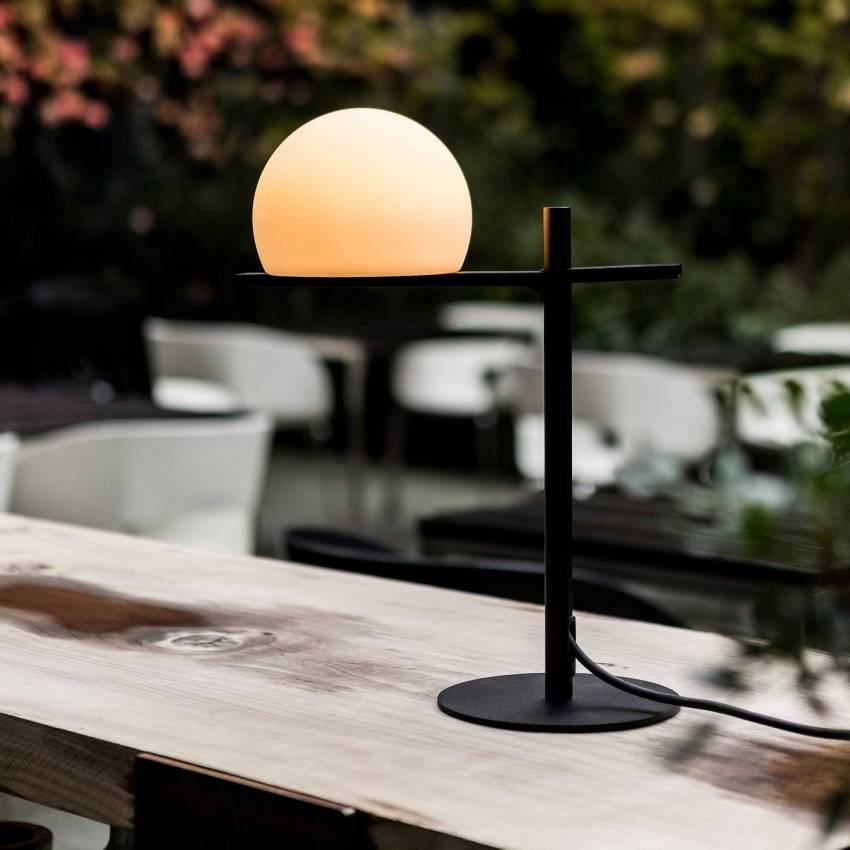 Lampe de table CIRC / H. 43,8 cm / Noir / Polyethylene