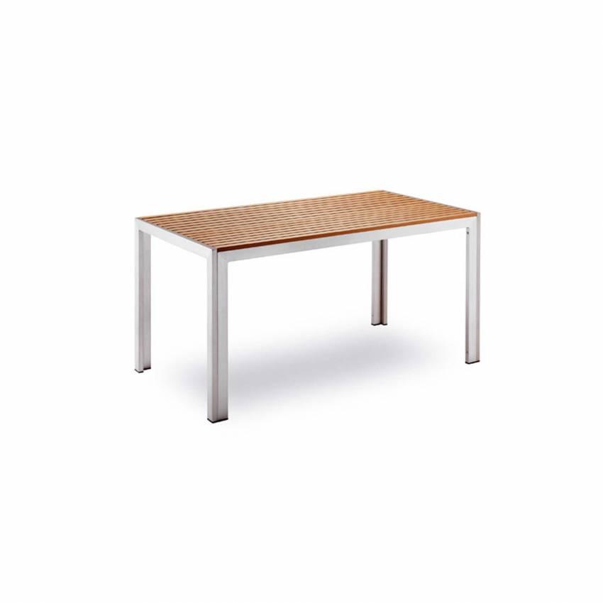 Table de jardin BAVARIA / L. 1,50 m / Bois et Gris