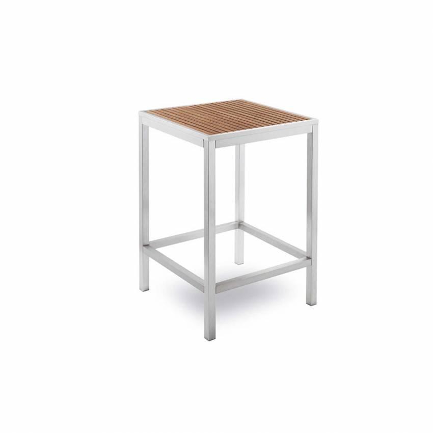 Table haute outdoor BAVARIA / H. 1,10 m / Bois et Gris