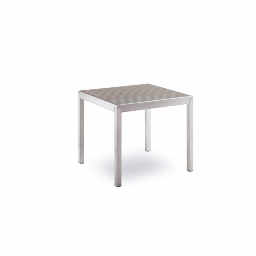 Table de jardin BAVARIA / H. 75 cm / Gris