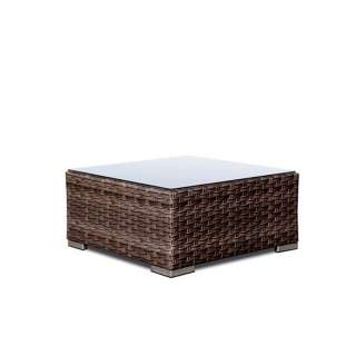 Table basse outdoor MARBELLA / H. 32 cm / Marron