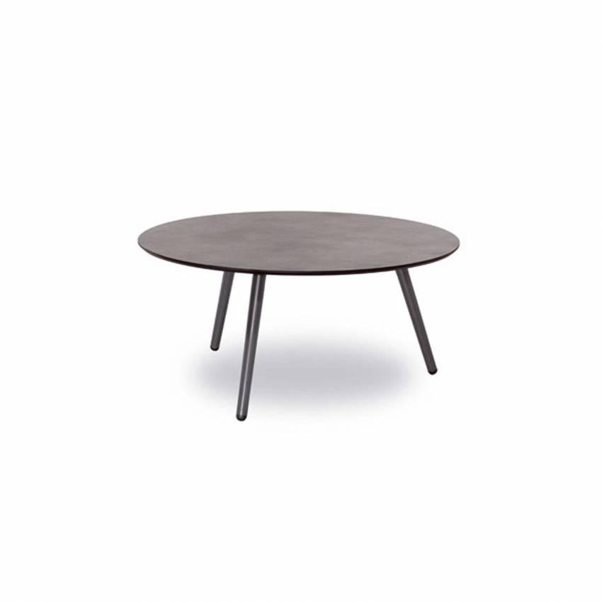 Table de jardin PRAGA / H. 37 cm / Gris