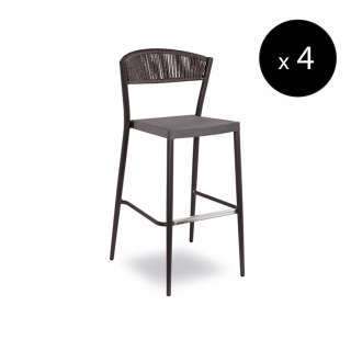 Tabouret outdoor DUKE / H. 1,13 m / Anthracite