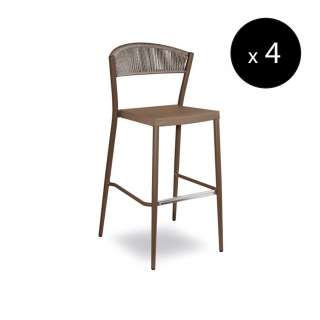 Tabouret outdoor DUKE / H. 1,13 m / Taupe