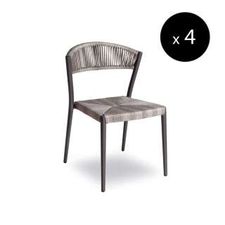 Chaise outdoor ARIEL DELUXE / H. 77 cm / Gris