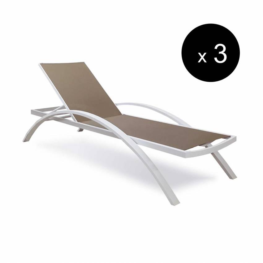 Chaise longue OLIVIER / L. 1,98 m / Blanc