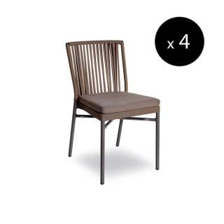 Fauteuil outdoor NICOLE / H. 82 cm / Anthracite