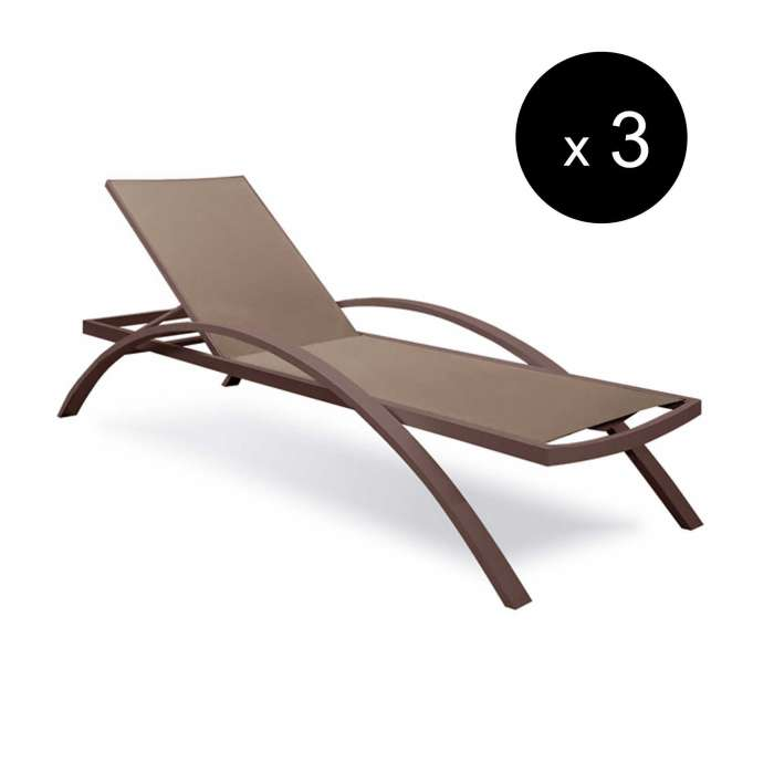 Chaise longue OLIVIER / L. 1,98 m / Taupe