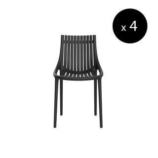 Chaise outdoor IBIZA / H. assise 45 cm / Noir