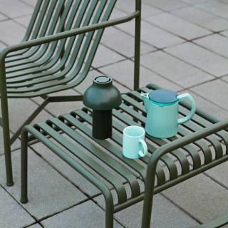 Table basse d'extérieur PALISSADE / H. 37 cm / Olive
