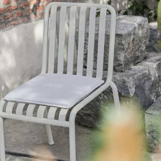 Chaise d'extérieur PALISSADE / H. assise 45 cm / Gris Ciel