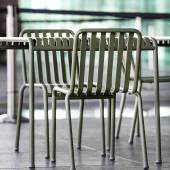 Chaise d'extérieur PALISSADE / H. assise 45 cm / Olive