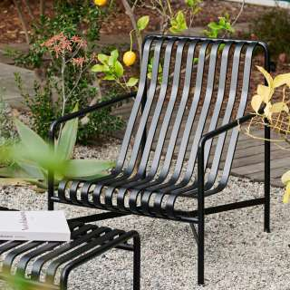 Chaise lounge basse PALISSADE / H. assise 38 cm / Anthracite