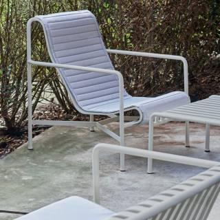 Chaise lounge PALISSADE / H. assise 38 cm / Gris Ciel