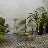 Chaise lounge PALISSADE / H. assise 38 cm / Olive