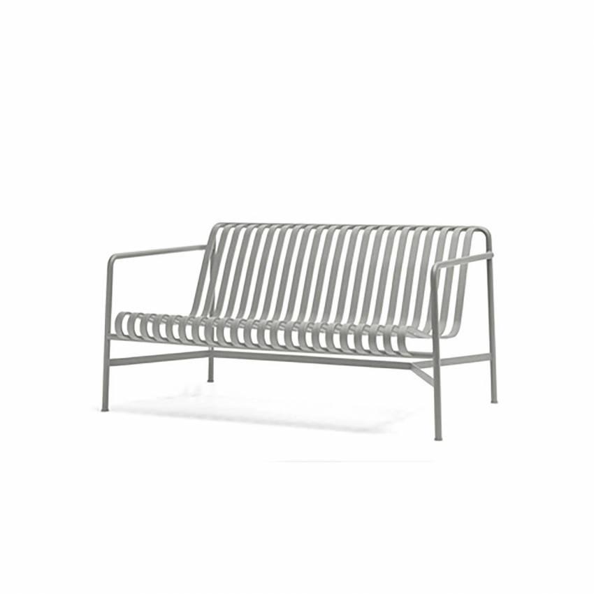 Canapé d'extérieur PALISSADE / L. 1,39 m / Gris Ciel