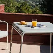 Table d'extérieur PALISSADE / L. 1,70 m / Gris Ciel