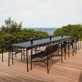 Table d'extérieur PALISSADE / L. 1,70 m / Anthracite