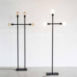 Lampadaire KVG / H. 1,61 m / Noir