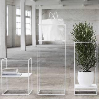 Porte plante DISPLAY / H. 1,20 m / Blanc