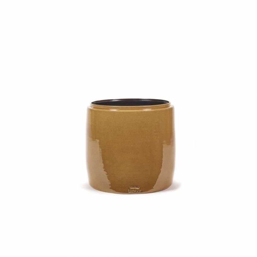 Cache pot de fleurs GLAZED SHADES / 3 dimensions / Miel