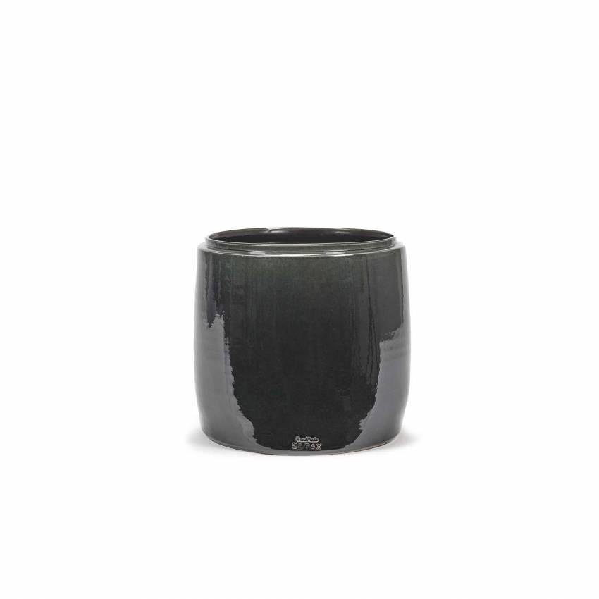 Cache pot de fleurs GLAZED SHADES / 3 dimensions / Gris-Vert