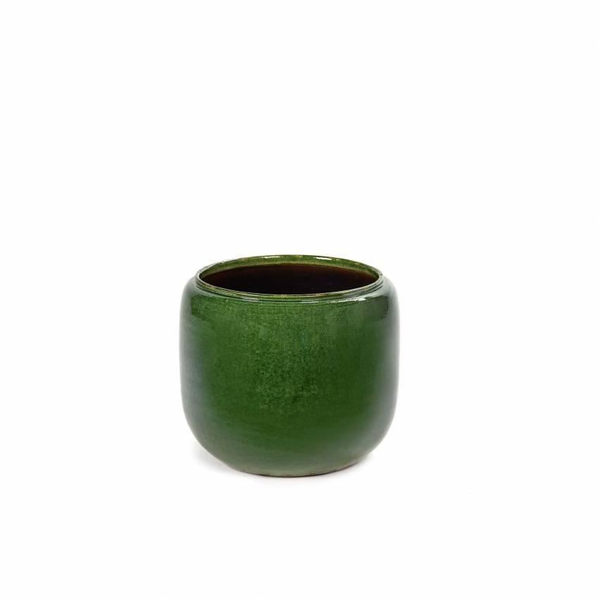 Cache pot de fleurs GLAZED SHADES COSTA / 3 dimensions / Vert