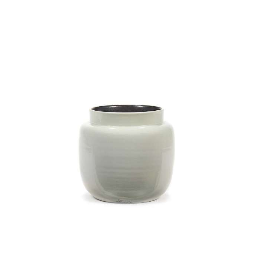 Cache pot de fleurs GLAZED SHADES / 3 dimensions / Blanc