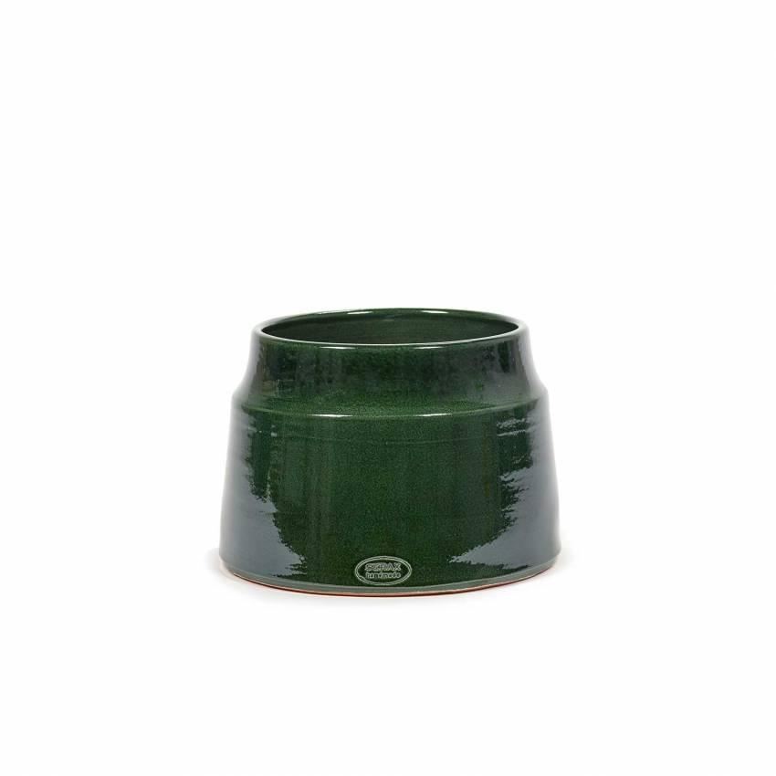 Cache-pot de fleurs GLAZED SHADES / 3 dimensions / Vert