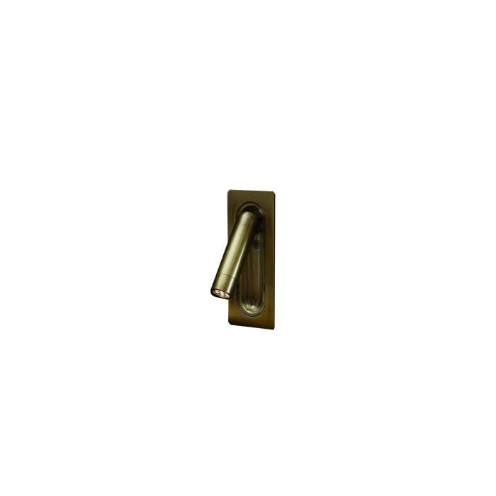 Applique LEDTUBE MINI / H. 11,3 cm / Bronze