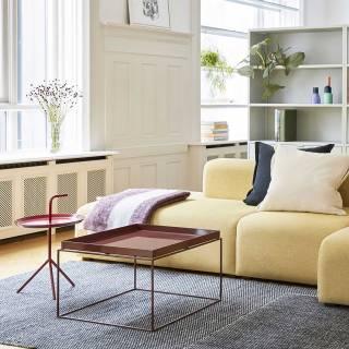 Table de salon DLM  / Ø 38 cm / Rouge Cerise