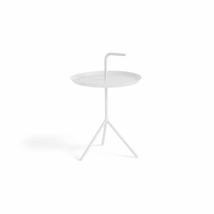 Table d'appoint DLM / Ø 38 x H 44 cm et Ø 48 x H 65 cm / Blanc