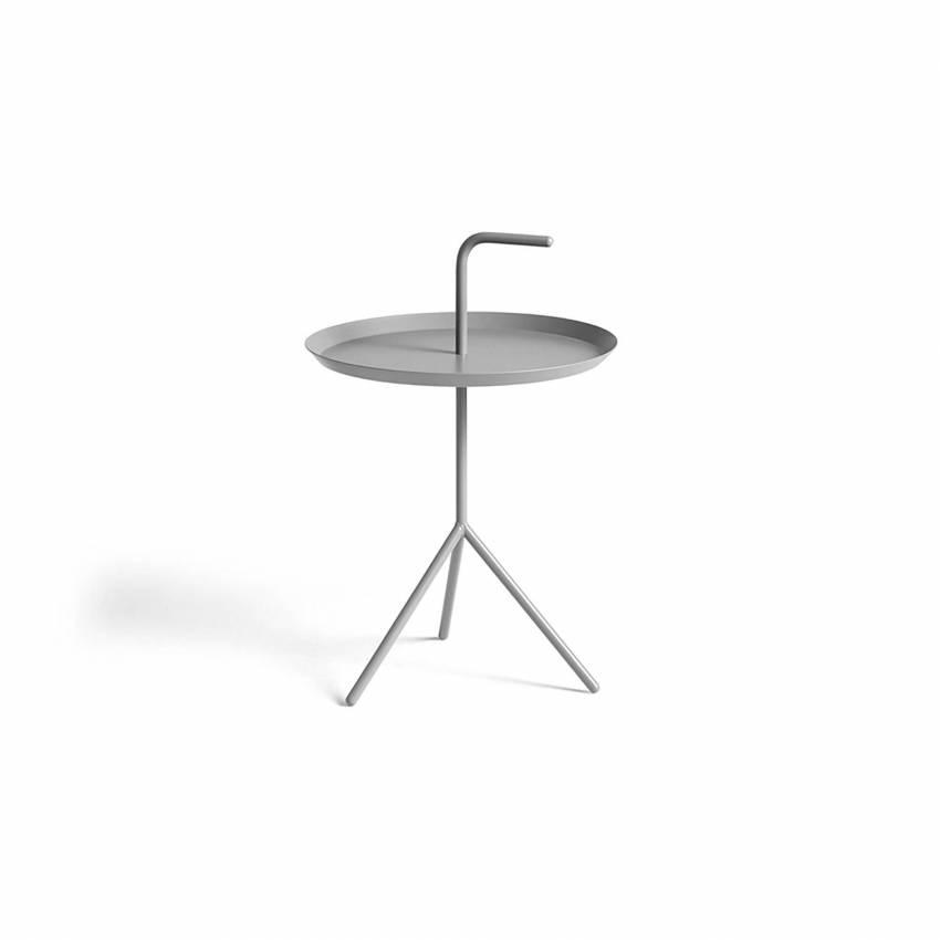 Table de salon DLM  / Ø 38 x H 44 cm et Ø 48 x H 65 cm / Gris