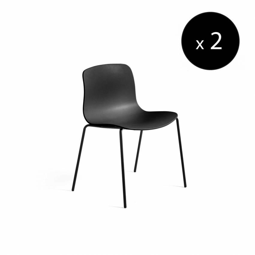 HAY / Chaise AAC16 noir - pieds noir