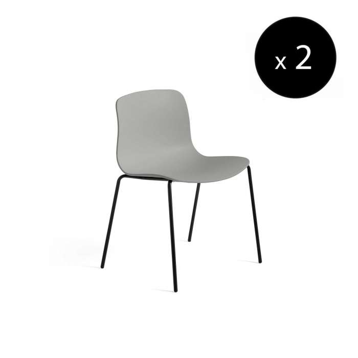 HAY / Chaise AAC16 gris clair - pieds noir