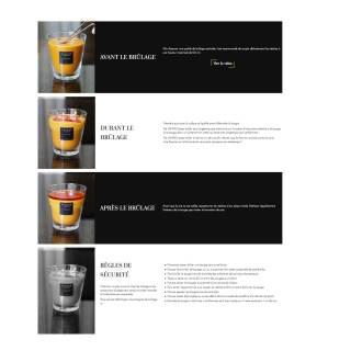 Bougies BEACH CLUB / Pampelonne / 4 dimensions
