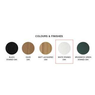 Table basse BELLA / 4 dimensions / Chêne teinté Blanc