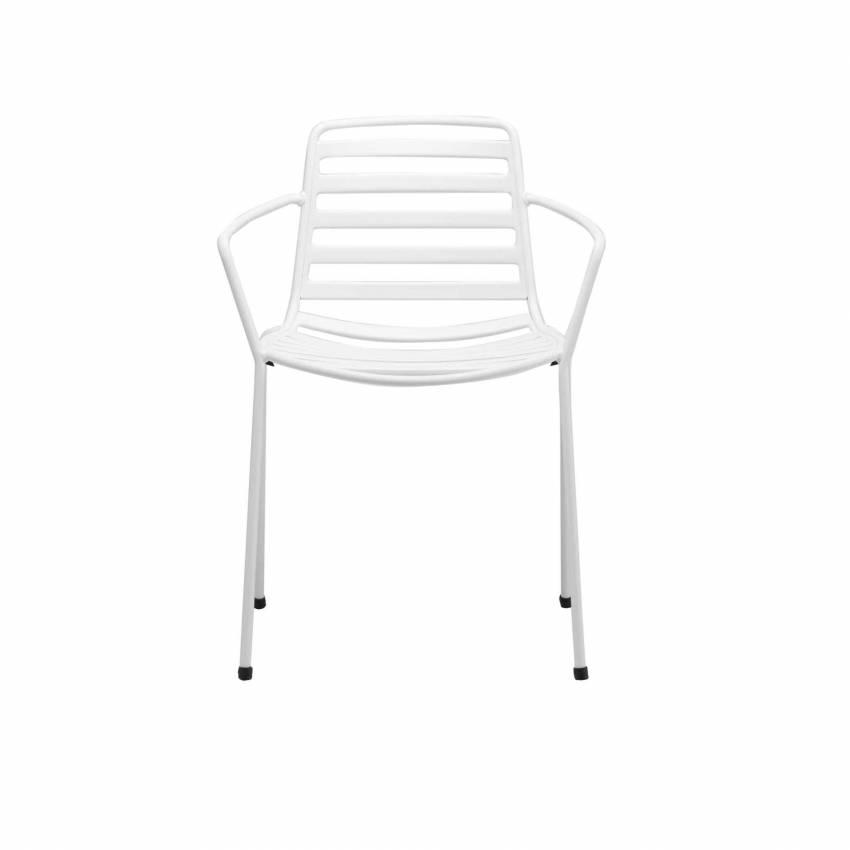 Chaise outdoor avec accoudoirs STREET / H. assise 45 cm / 12 coloris