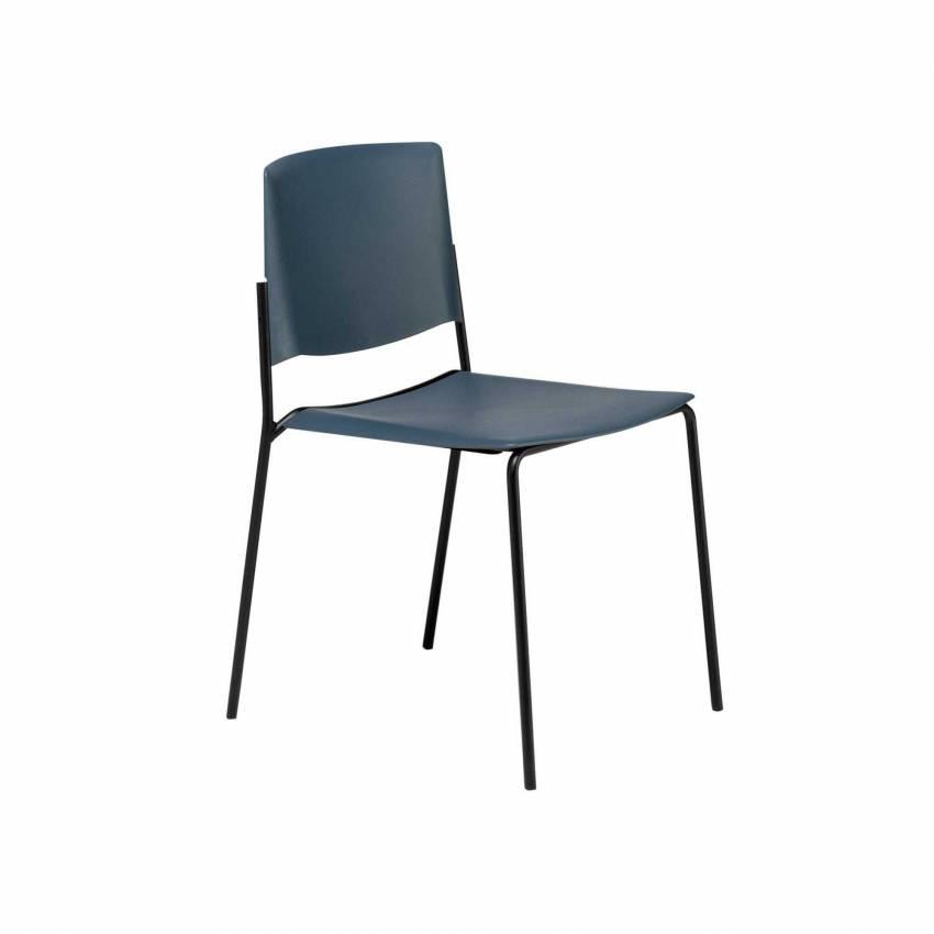 Chaise de salle à manger EMA 4L / H. assise 47 cm / 12 coloris