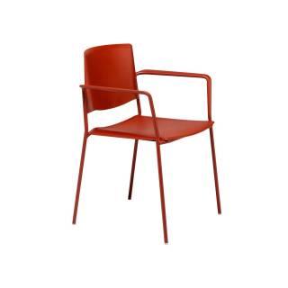 Chaise avec accoudoirs EMA 4L / H. assise 47 cm / 12 coloris