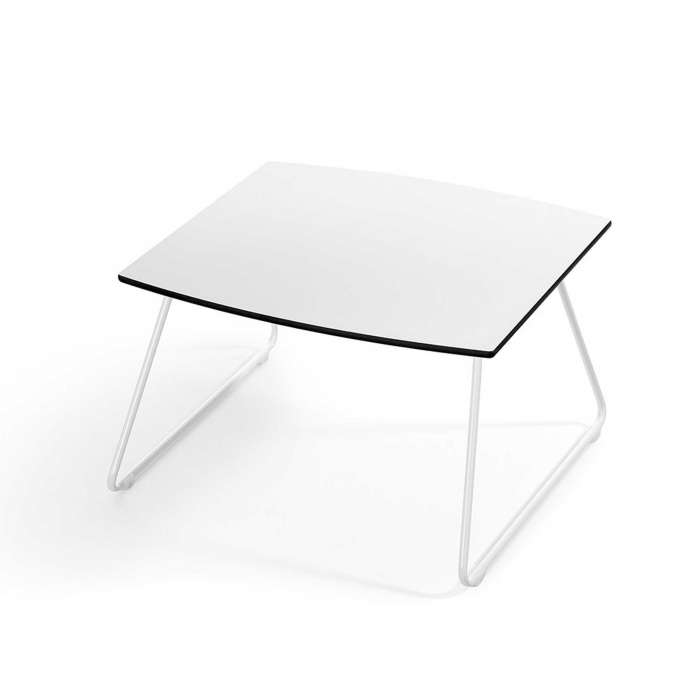Table basse carrée Oh! / H. 42 cm / Blanc