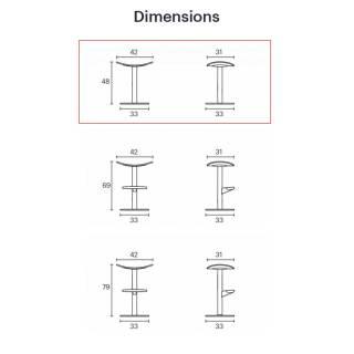 Tabouret COMA / 3 dimensions / Blanc