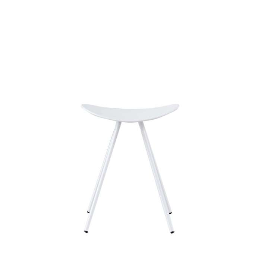 Tabouret COMA 4L / 3 dimensions / Blanc