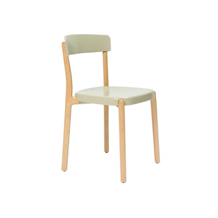 Chaise NOA / H. assise 47 cm / Sable et piètement Bois